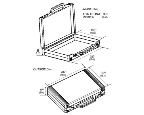 Упаковочный пластиковый кейс VG K0392